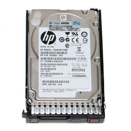 Hard Disc Drive dedicated for HP server 2.5'' capacity 600GB 10000RPM HDD SAS 6Gb/s 653957-001   507129-014   652583-B21