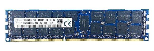 Memory RAM 1x 16GB Hynix ECC REGISTERED DDR3  1866MHz PC3-14900 RDIMM | HMT42GR7AFR4C-RD
