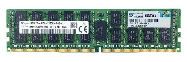 Memory RAM 1x 16GB Hynix ECC REGISTERED DDR4  2133MHz PC4-17000 RDIMM   HMA42GR7AFR4N-TF