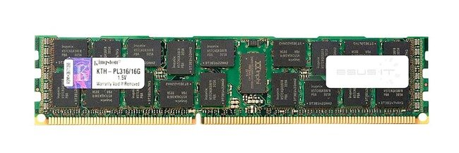 Memory RAM 1x 16GB Kingston ECC REGISTERED DDR3  1600MHz PC3-12800 RDIMM   KTH-PL316/16G