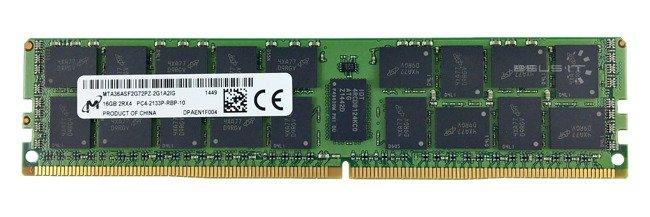 Memory RAM 1x 16GB Micron ECC REGISTERED DDR4  2133MHz PC4-17000 RDIMM | MTA36ASF2G72PZ-2G1