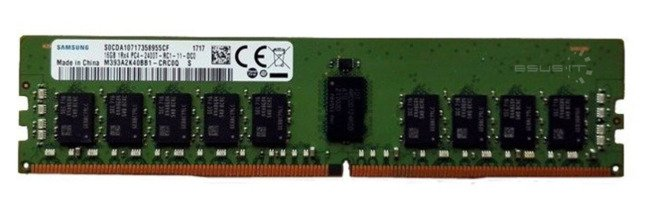 Memory RAM 1x 16GB Samsung ECC REGISTERED DDR4 1Rx4 2400MHz PC4-19200 RDIMM | M393A2K40CB1-CRC