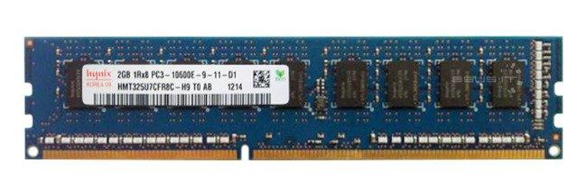 Memory RAM 1x 2GB Hynix ECC UNBUFFERED DDR3  1333MHz PC3-10600 UDIMM | HMT325U7CFR8C-H9