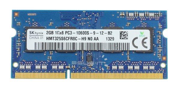 Memory RAM 1x 2GB Samsung SO-DIMM DDR3 1333MHz PC3-10600 | HMT325S6CFR8C-H9