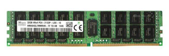 Memory RAM 1x 32GB HPE Proliant & Workstation DDR4 4Rx4 2133MHz ECC LOAD REDUCED DIMM | 790110-001