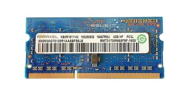 Memory RAM 1x 4GB Ramaxel SO-DIMM DDR3 1600MHz PC3-12800   RMT3170MN68F9F-1600