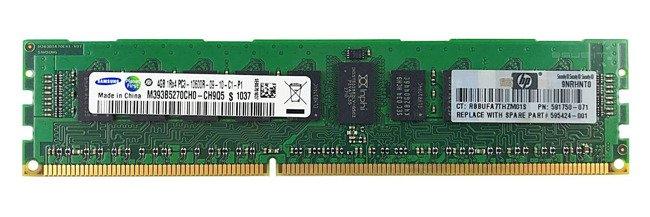 Memory RAM 1x 4GB Samsung ECC REGISTERED DDR3  1333MHz PC3-10600 RDIMM | M393B5270CH0-CH9