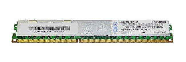 Memory RAM 1x 8GB IBM ThinkServer & System X DDR3 1333MHz ECC REGISTERED DIMM | 49Y1431-RETAIL