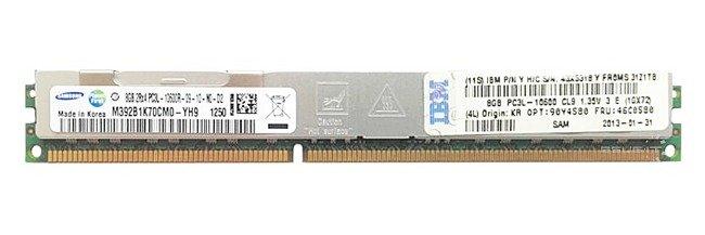 Memory RAM 1x 8GB Samsung ECC REGISTERED DDR3  1333MHz PC3-10600 RDIMM | M392B1K70CM0-YH9